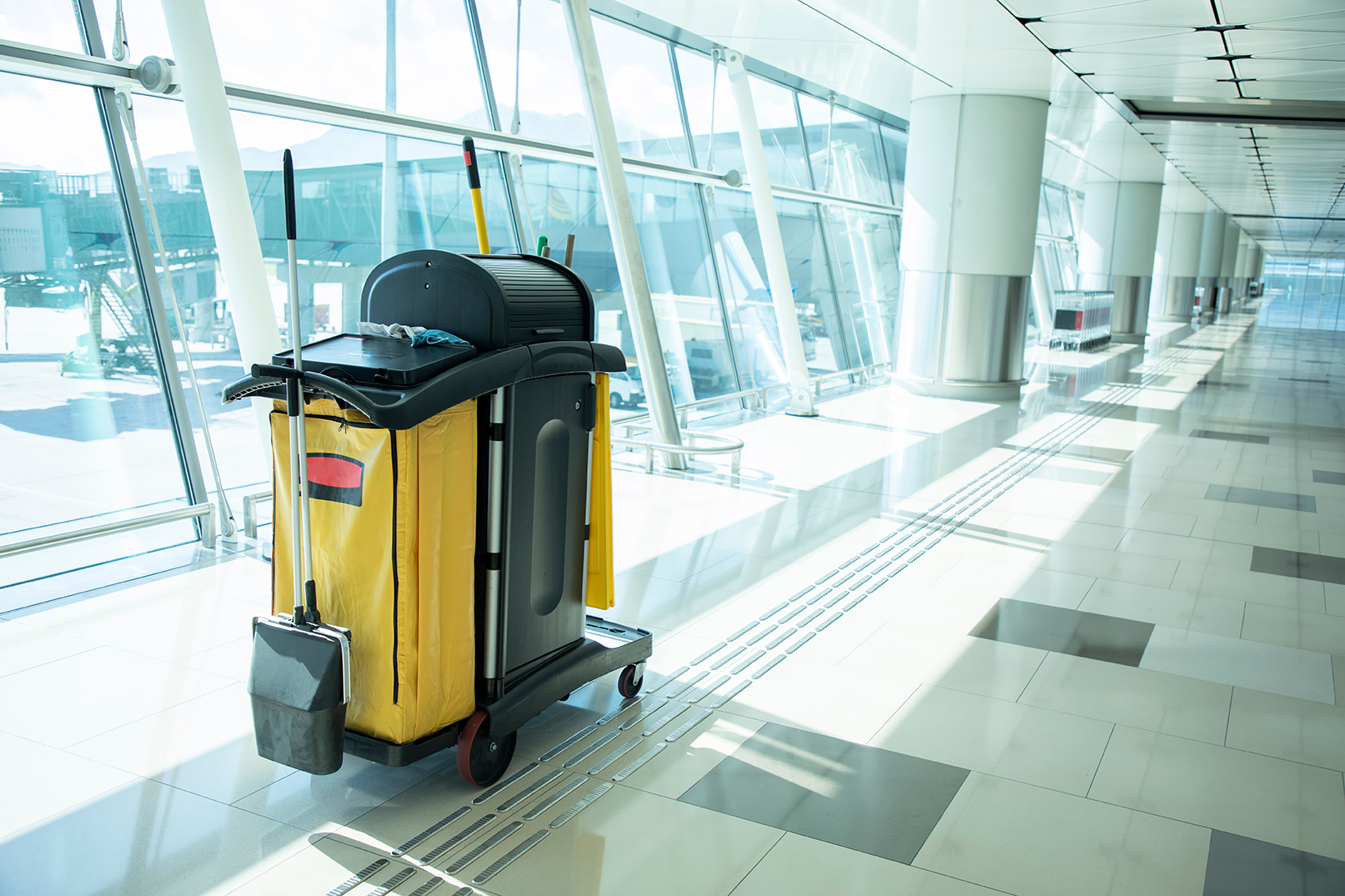 Janitorial Cart in Building